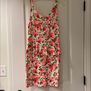 H&M Floral Dress with Ruffle